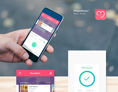MusicMotiv - Music + Fitness App for iOS