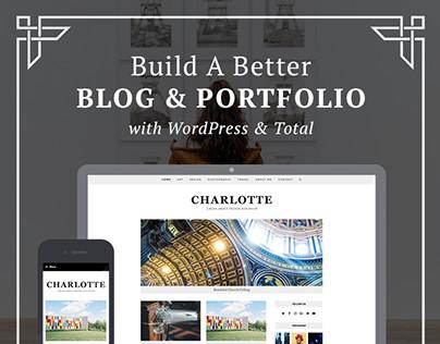 Charlotte Minimal Blog & Portfolio Web Design