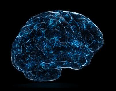 4K Digital Technology of a Human Brain Concept
