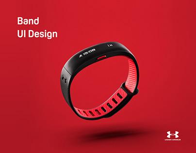Under Armour Band UI Design