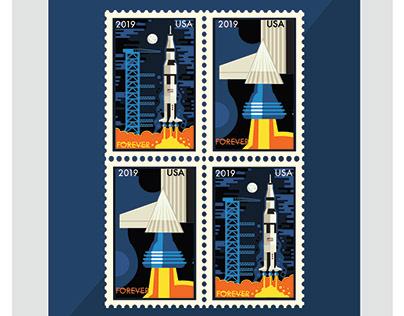 Saturn V Stamp Design