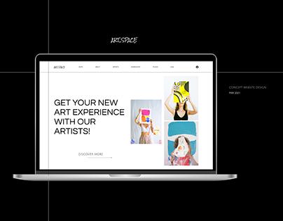 Concept Website Design - ArtSpace