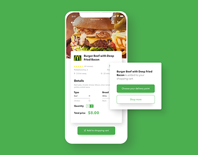 Food Order and Delivery Mobile App - UX/UI Design