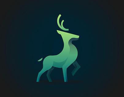 Deer, vector illustration
