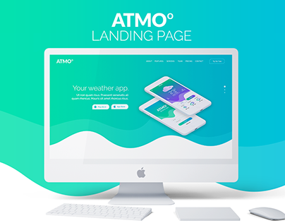 Atmo - Weather App Landing Page