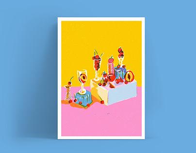Greetings cards Lucia Calfapietra x AHD paper company