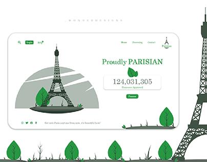Parisian Landing Page
