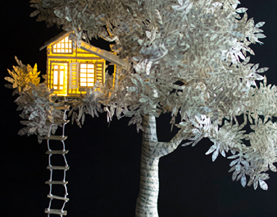 TreeHouse Book Sculpture