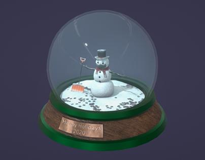 2020 Holiday Snow Globe