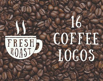 Set of vintage coffee emblems.