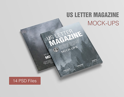 US Letter Magazine Mockups