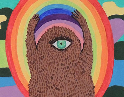 Cyclopsquatch Happy - Acrylic on Canvas