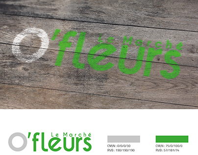 O'fleurs - Logotype + Agencement + Vehicules