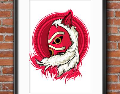 Princesa Mononoke - Ilustración