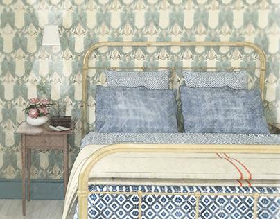 Traditional Bedroom Vignette