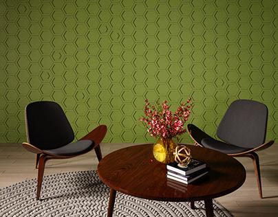 3D concrete tile #4, brand ASHOME