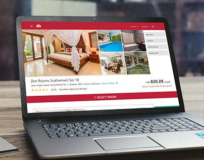 Zen Rooms Hotel Details Web UI UX