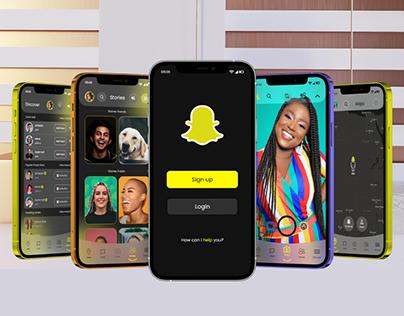 Snapchat App Redesign(Free)+Mockup 12 Pro