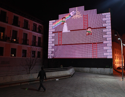 Big Games | Interactive game for big screen façade