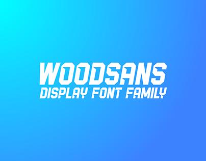 Woodsans - display font