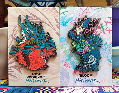 'Little Adventurer' and 'Bloom' Enamel Pins
