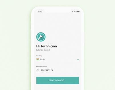 Login Page Design & Animation - Technician App