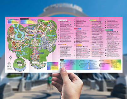 Disney's Magic Kingdom Guide Map