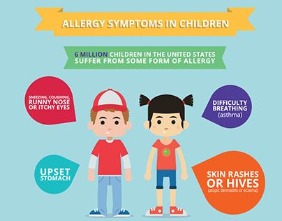 Children & Allergies Infographic