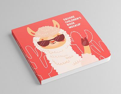 Square Children's Book Mock-Up