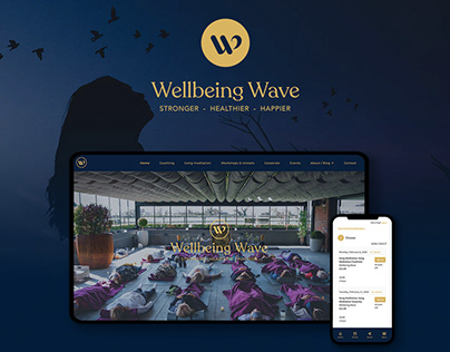 Website design and development for Wellbeing Wave