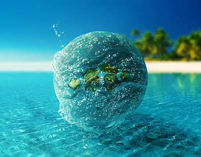 One friendly sea drop