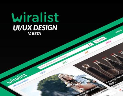 Wiralist.com UI/UX Design