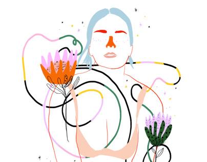 Ejercicios de color y forma - 10 - Retratos