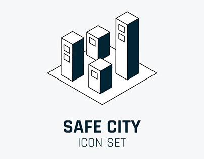 Safe City - icon set