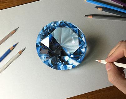 Drawing Blue Gemstone