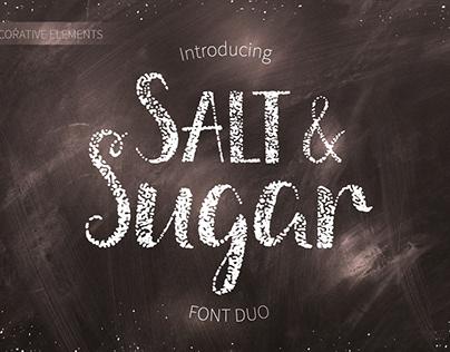 Salt & Sugar. Hand Drawn Font Duo
