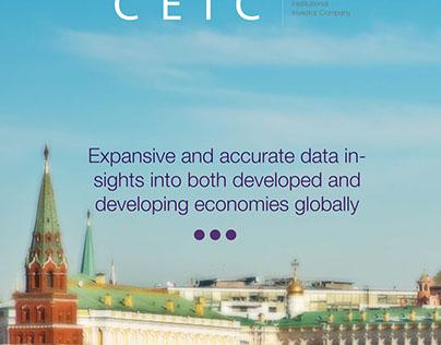 CEIC Economic Data App Concept