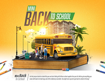 Mini Back to school Campaign (Social media & out door)