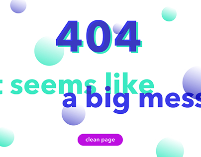 #08 Daily UI // 404 Page