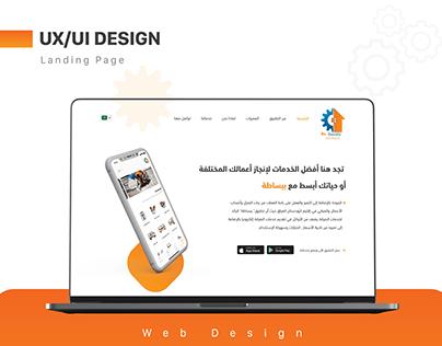 Landing Page DESIGN (Mobile App Services -bebasatah )