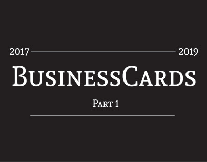 Business Cards- 2017-2019