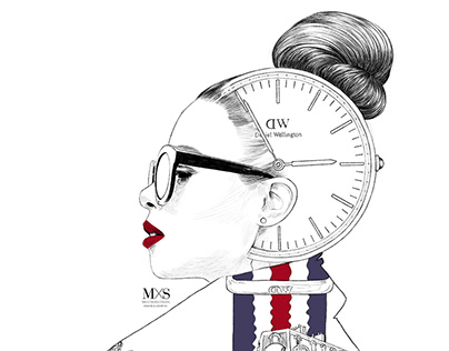 Daniel Wellington - Double Exposure illustration