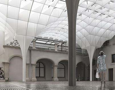 Courtyard roof / Warsaw Museum