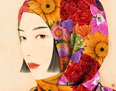 Portrait of a Beauty : Gaze