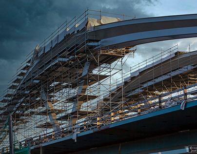 Brücken-Trilogie…Linz 2020/2021 / construction site