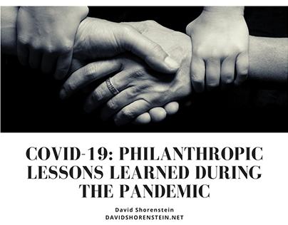 David Shorenstein   COVID-19: Philanthropic Lessons