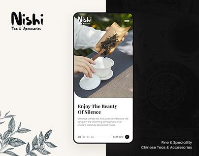 Nishi - Tea & Accessories UI/UX Design