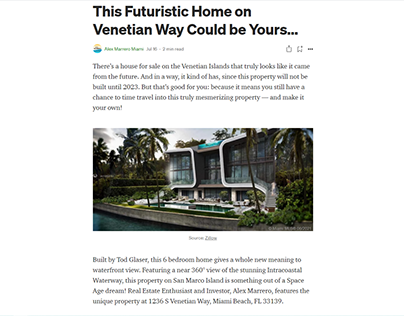 This Futuristic Home on Venetian Way Could be Yours…