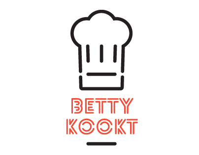 Betty Kookt identity and bifold folder