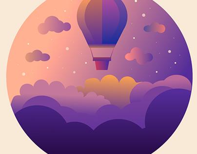 Baloon i the sky